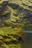 L'Islanda. Area del sud. Lakagigar. Tjarnargigur. Wi vulcanici del cratere Fotografie Stock