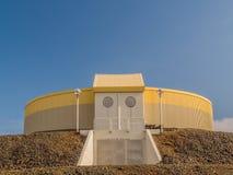 L'Islanda di costruzione rotonda Immagine Stock Libera da Diritti