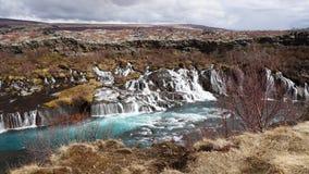L'Islanda hraunfossar Immagini Stock Libere da Diritti