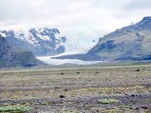 L'Islanda il ghiacciaio 2017 di Skaftafell Fotografie Stock
