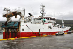 L'Islanda - nave di pesca Fotografia Stock Libera da Diritti