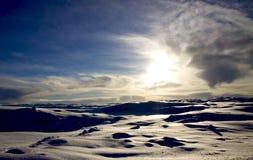 L'Islanda - orario invernale Immagine Stock Libera da Diritti