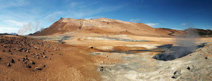 L'Islanda, paesaggio vulcanico Namafjall fotografia stock