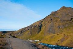 L'Islanda, scogliera dell'alta montagna Bello paesaggio Immagini Stock Libere da Diritti