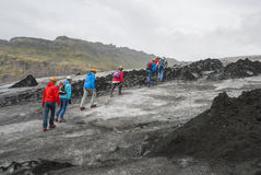 L'Islande, Glacierwalk, lheimajökull de ³ de Sà Photo stock