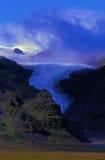l'Islande, glissement de glacier d'Oraefajokull Photos stock