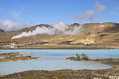 l'Islande : Lagune bleue chaude Photo stock