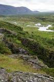 l'Islande - le stationnement national de Thingvellir - cercle d'or Image libre de droits