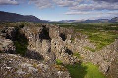 l'Islande : Stationnement national de Thingvellir Photo libre de droits