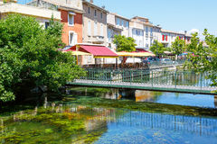 L'Isle-Sur-La-Sorgue, small typical town in Provence, France Stock Photography