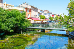 L'Isle-Sur-La-Sorgue, small typical town in Provence, France Stock Images