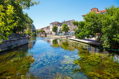 L'Isle-Sur-La-Sorgue, small typical town in Provence, France Royalty Free Stock Images