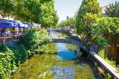 L'Isle-Sur-La-Sorgue, small typical town in Provence, France Stock Photos