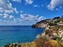 L'isola d'Ischia Arkivfoto