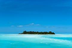 L'isola dei Caraibi a distanza Fotografie Stock Libere da Diritti