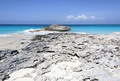 L'isola dei Caraibi Rocky Beach Immagini Stock Libere da Diritti