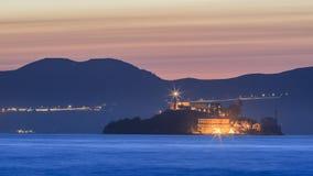 L'isola del diavolo - Alcatraz a San Francisco fotografia stock libera da diritti