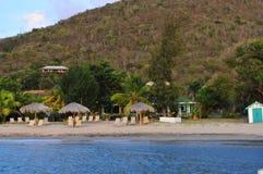 L'isola del Nevis, i Caraibi Fotografie Stock