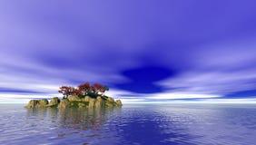 L'isola del Pacifico romantica Fotografie Stock Libere da Diritti