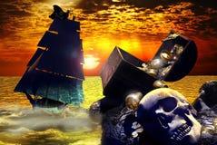 L'isola del tesoro royalty illustrazione gratis