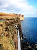 L'isola della cascata della roccia del kilt di Skye Fotografie Stock Libere da Diritti