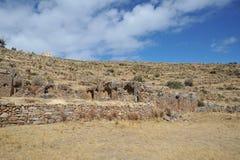 L'isola della luna è situata sul Titicaca Immagine Stock Libera da Diritti