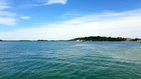 L'isola di Brownsea è il più grande delle isole nel porto di Poole nella contea di Dorset, Fotografia Stock