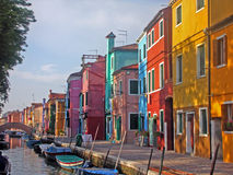 L'isola di Burano, Venezia Fotografia Stock Libera da Diritti