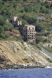 L'isola di Elba ha abbandonato la miniera del ferro fotografia stock