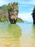 L'isola di James Bond al parco nazionale di Phang Nga in Tailandia Fotografia Stock Libera da Diritti