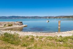 L'isola di Polvese Fotografia Stock