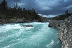 L'isola di Runde è situata nel Nord della Norvegia Immagini Stock Libere da Diritti
