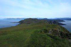 L'isola di Runde è situata nel Nord della Norvegia Fotografia Stock Libera da Diritti