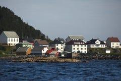 L'isola di Runde è situata nel Nord della Norvegia Fotografie Stock Libere da Diritti
