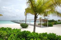L'isola di vacanze alle Maldive Fotografia Stock Libera da Diritti
