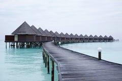 L'isola di vacanze delle Maldive Immagine Stock Libera da Diritti