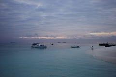 L'isola di vacanze delle Maldive Fotografia Stock Libera da Diritti