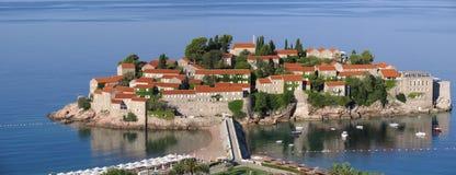 L'isola di vacanze di Sveti Stefan montenegro Fotografie Stock