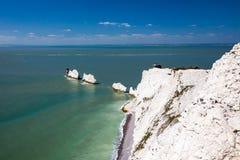 L'isola di Wight Inghilterra Regno Unito degli aghi Fotografie Stock Libere da Diritti