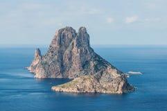 L'isola es Vedra della roccia Fotografia Stock Libera da Diritti