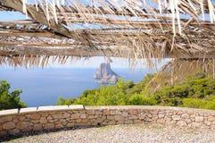 L'isola es Vedra della roccia Fotografie Stock