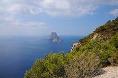 L'isola es Vedra della roccia Fotografie Stock Libere da Diritti