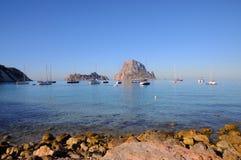 L'isola es Vedra della roccia Immagine Stock Libera da Diritti