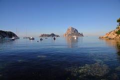 L'isola es Vedra della roccia Fotografia Stock