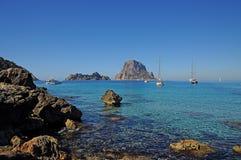 L'isola es Vedra della roccia Immagini Stock Libere da Diritti