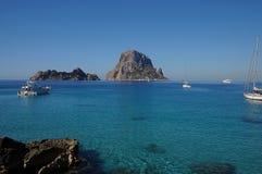 L'isola es Vedra della roccia Immagine Stock