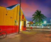 L'isola i Caraibi di Holbox alloggia il tramonto Messico Immagine Stock Libera da Diritti