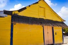 L'isola i Caraibi variopinti di Holbox alloggia il Messico Fotografia Stock