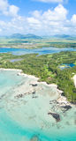 L'Isola Maurizio aerea Immagini Stock