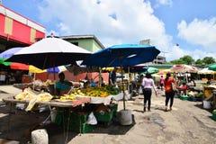 L'isola pittoresca di Santa Lucia nelle Antille immagine stock